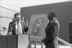 Frederick Schlimm (Left) and William Mallory, Sr. (Right) - event for the William L. Mallory Child Care Center at Cincinnati State