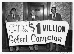 CTC $1 million Select Campaign - Frederick Schlimm (right) - July 16, 1982