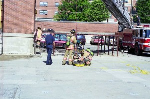Firefighter graduation drills, 1999
