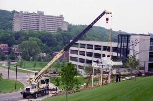 VIEWPOINT sculpture installation (June 1997)