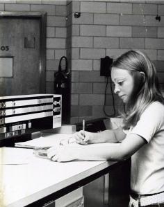 Unidentified woman in Data Processing program