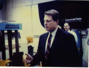 Al Gore visits Cincinnati State campus - February 26, 1996