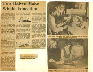 This Cincinnati Enquirer article from Nov. 5, 1966 discusses the unique co-op program at the college which allowed students to spend half of their time at the college working in their chosen field.