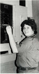 1984 - Pam Maher, one of 3 women enrolled in the electrical engineering program.