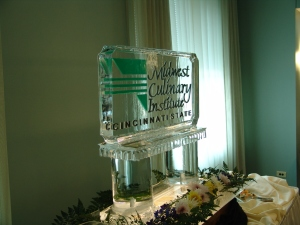 Midwest Culinary Institute ice sculpture - 2005