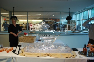 Midwest Culinary Institute ice sculpture - 2012