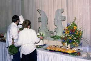 Ice carving of fish - date unknown
